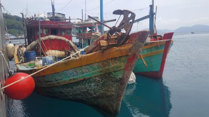 2 Kapal Nelayan Dengan Bendera Malaysia Lakukan Illegal Fishing Diamankan Polisi