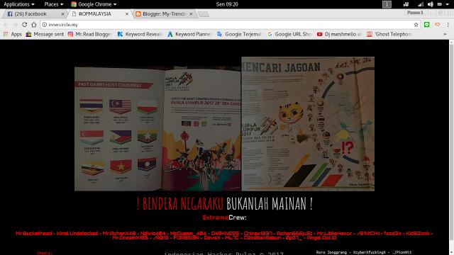 Akibat Bendera Indonesia Terbalik, Website Malaysia di Hack